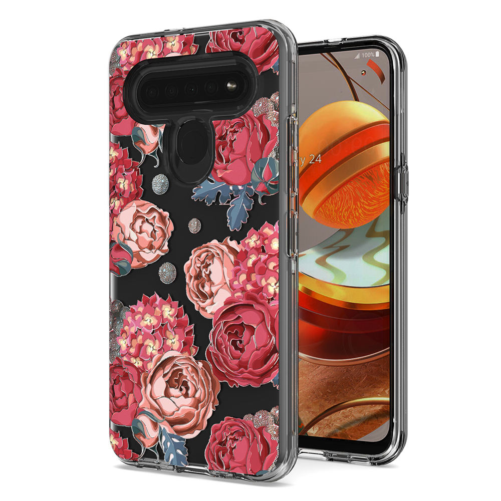 TPU PC double layer protection printed phone accessories case for LG K61 K51S K41S k51 stylo 6