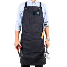 Custom black Heavy Duty Adjustable Workshop Cooking BBQ Grill Apron for Men