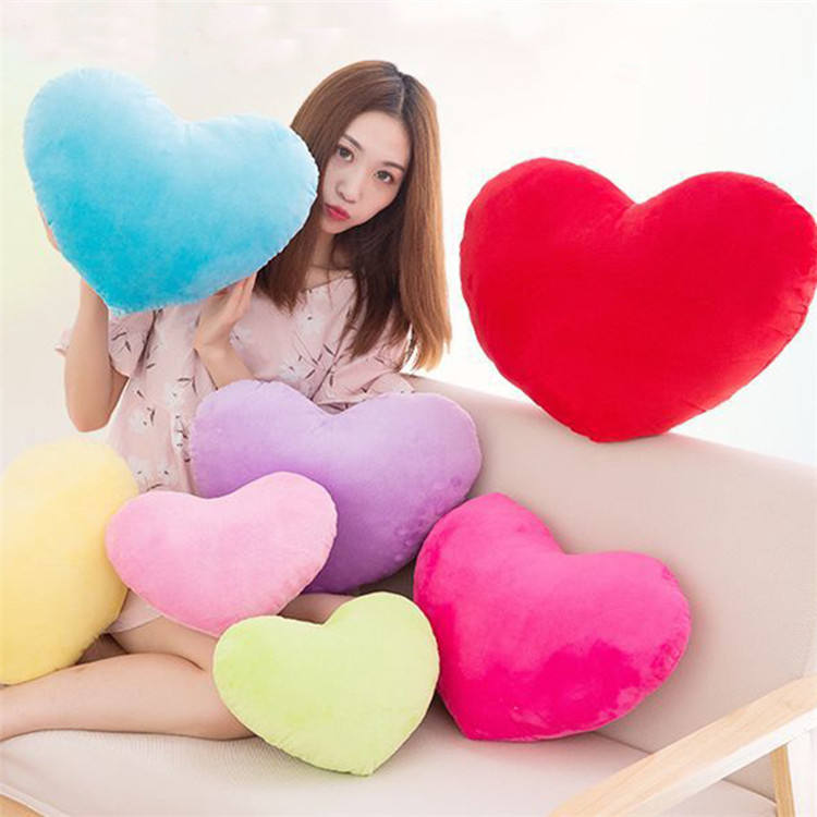8inch 20cm lovely Home Decorative Sofa Cushion heart shape plush toy Valentine's Day gift throw pillow for girls