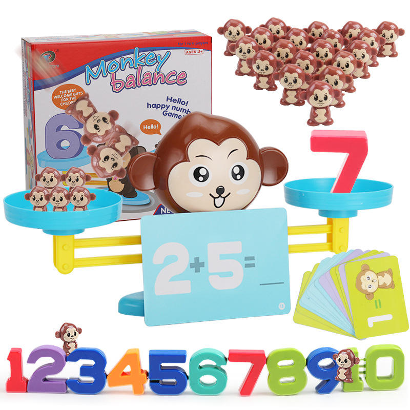 2020 Hot Sale Early Childhood Education Puzzle Balance Number Addition And Subtraction Game Toys For Kids