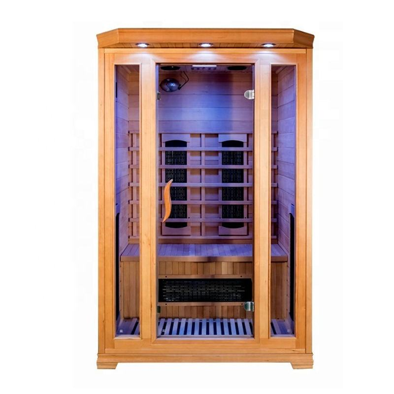 Luxury Popular Home Sauna Wooden Portable Full Spectrum Infrared Heater Ozone Near Far Infrared Sauna for Sale