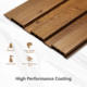 COOWIN Wpc Waterproof Interior Wall Cladding Composite Wood Wallpanel