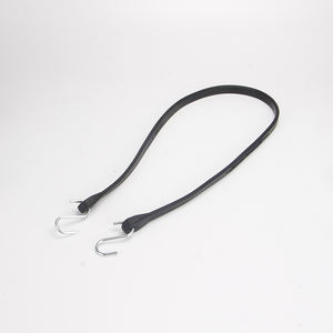 Duty NR rubber elastic bungee Tarp straps tie down Black cord with 2 S hooks
