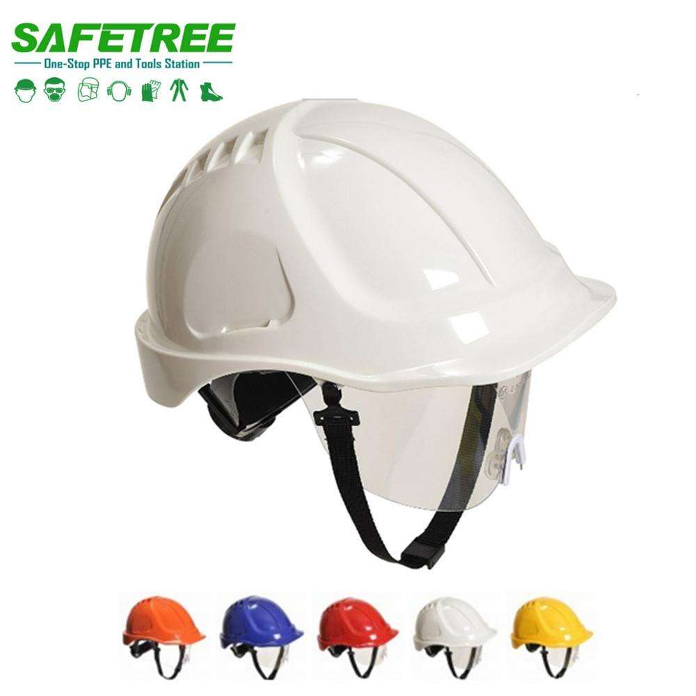 Ningbo Safetree CE EN3971 & ANSI Z89.1 Safety Helmet with visor / goggle