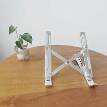 Aluminum folding desk metal holder laptop stand