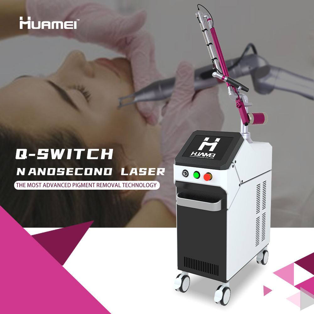 Picosecond Pigmentation Removal Machine Picosur Laser Fractional Q-Switched laser machine Q switch nd yag tatoo remove laser