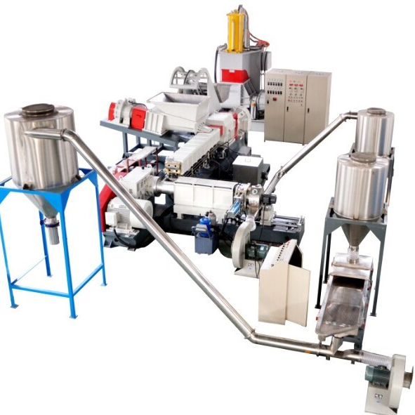 kneader and double screw extruder pelletizing machine