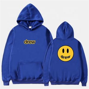 Fashion Hoodie Men The Drew House Smile Face Print Men Hoodies Sweatshirts Hip Hop Pullover Winter Fleece