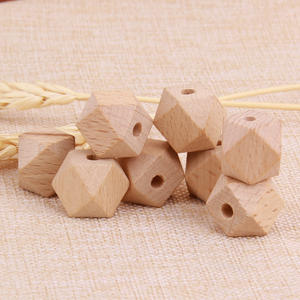 Decorative Natural Baby Teething Wood Beads Garland Wooden Beads for Jewelry Making