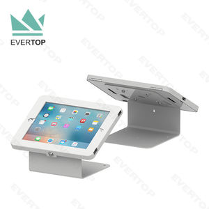 LST02-H Feedback Table top for iPad Tablet Enclosure Stand, Exhibition Safe Tabletop for iPad Tablet PC Mount Stand Holder