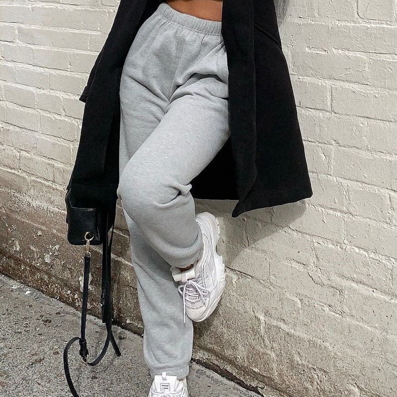 Winter Autumn Women Solid Thick Sweatpants Women High Waist Casual Trousers Women Harem Pants HSP61044