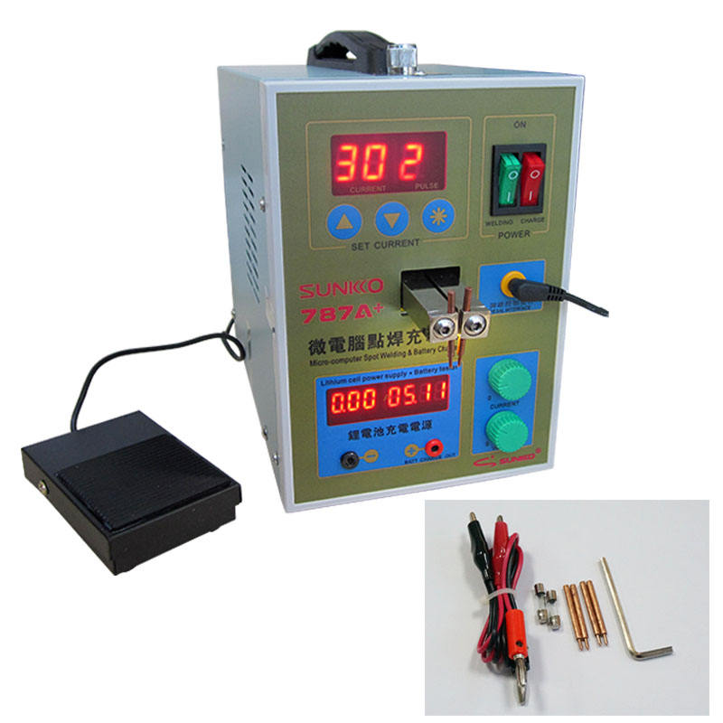 3 in 1 Double Pulse Battery Spot Welder & Lithium Battery Assembly Test Workstation& Battery Charger 787A+