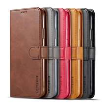 For iPhone 11 Pro Max Pu Luxury Magnetic Leather Wallet Flip Phone Case For iPhone 11 Full Body Business Phone Back Cover
