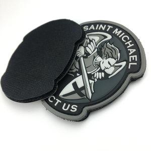 Personalizado 3D PVC Patch Moral Tático Emblema Do Logotipo da Borracha Borracha Patches