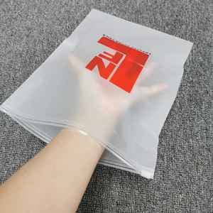Eco friendly Zipper Resealable Clothes Packaging Frosted Plastic Zipper lock Bag PE Zipper Lock Packaging Bag
