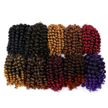 Spring Twist Hair Passion Extension 8 inches Crochet Kenya Afro Braiding Braids Extension Ombre Spring Twist Hair