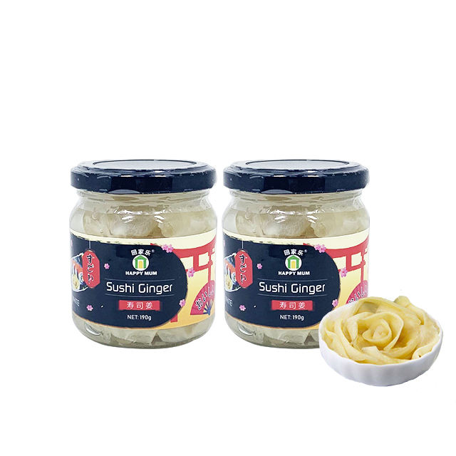 Retail Natural Glass Jar Packing White Sushi Ginger