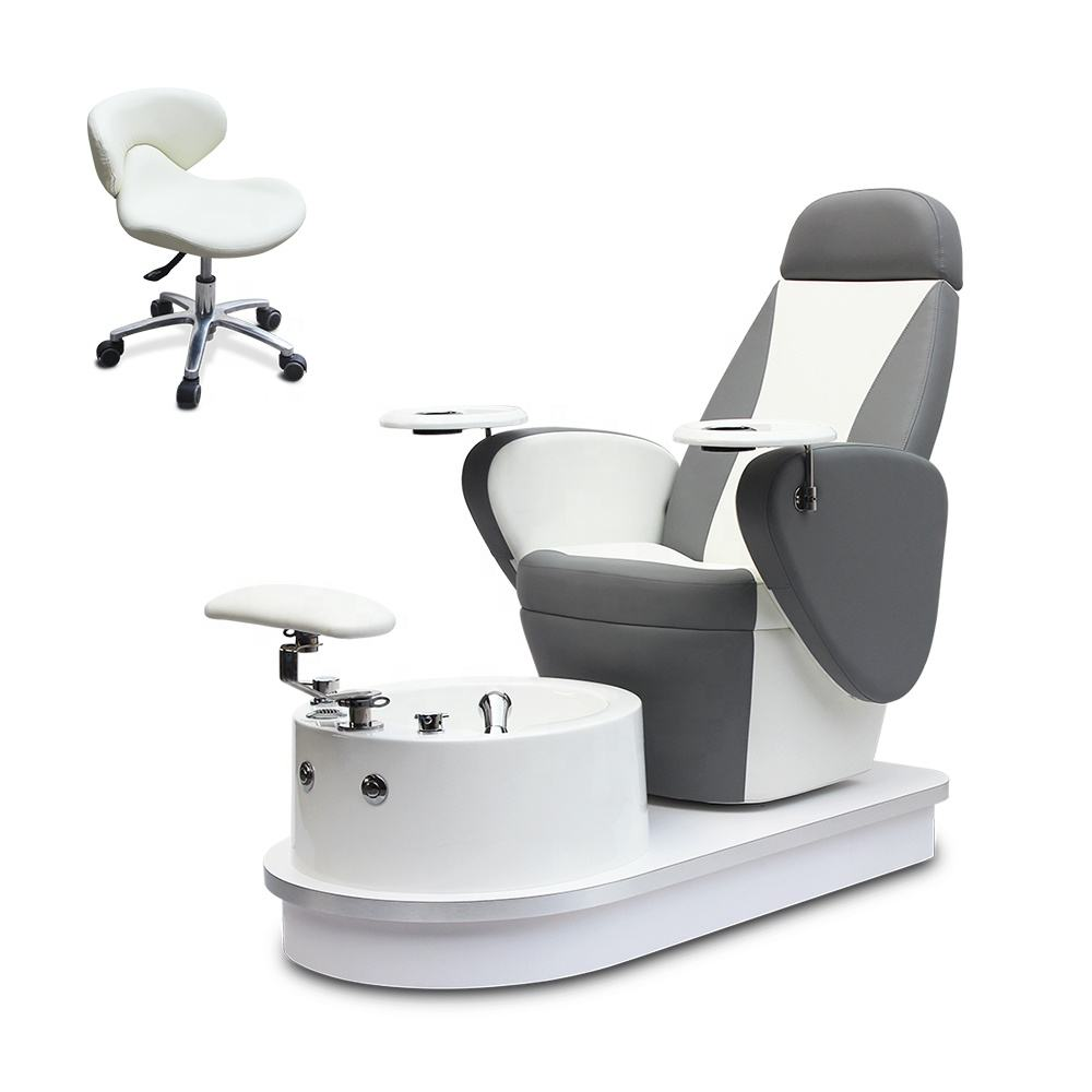 Wholesale Cheap Price Modern Luxury Beauty Nail Salon Furniture Reclining Pipeless Whirlpool Foot Spa Manicure Pedicure Chair