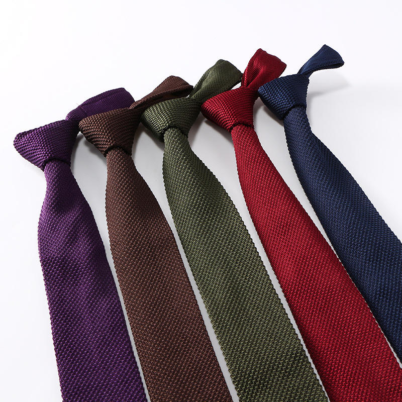 Popular Design Mixed Wholesale Stock Polyester Knitted Tie With Amazon Hot Sell