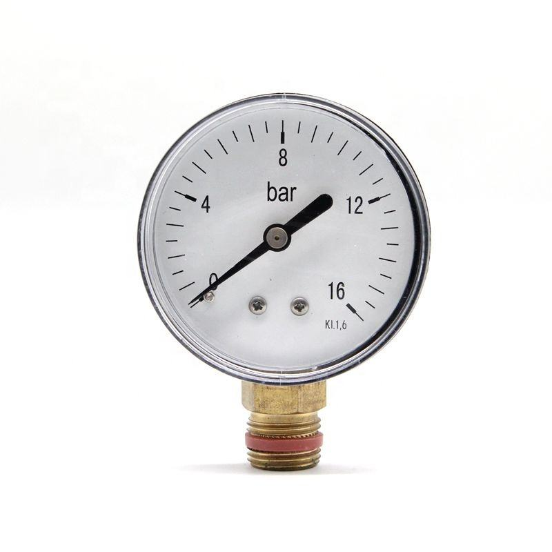 Grosna 63mm 0-16 bar black case stainless steel radial manifold digital hydraulic oxygen oil lpg gas pressure gauge manometer
