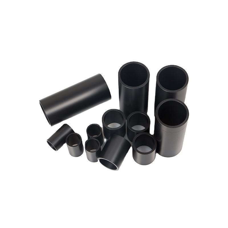 Custom black POM pipe high lubrication black Delrin tube plastic POM pipe
