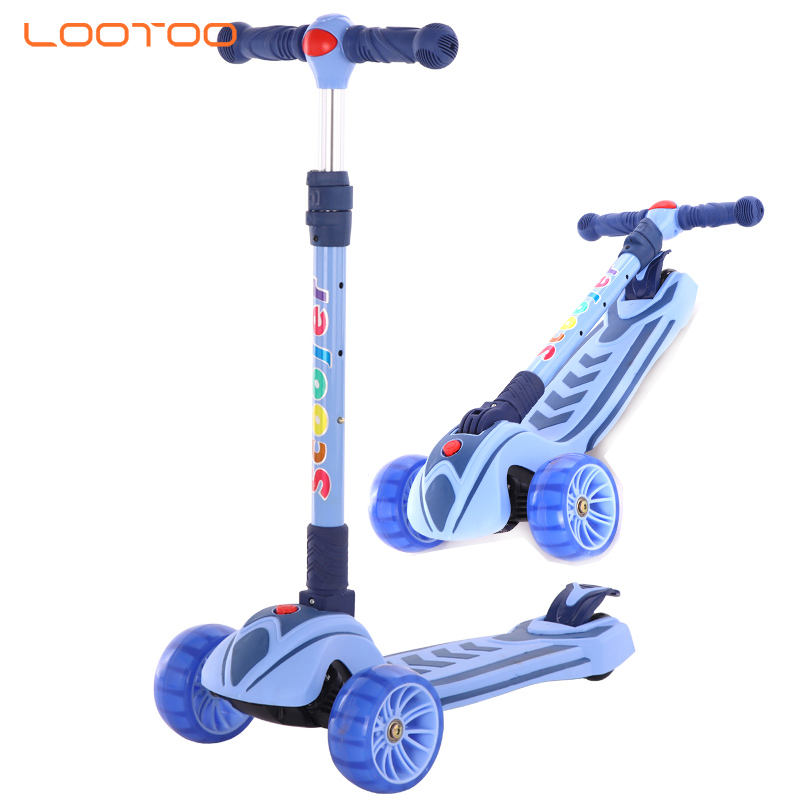 China cute animal 3 wheel plastic push baby kids kick scooter 3in 1 with seat for child