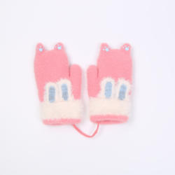 2020 New Design Autumn and Winter for Kids Cute Cartoon Students Thick Warm Gloves