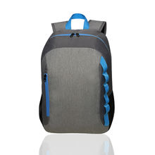 Promotional travel gray laptop college school polyester backpack
