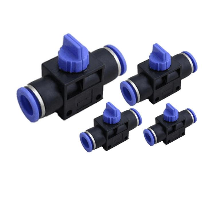 4 Way 5Pcs Tailonz Pneumatic 1//4 Inch OD Straight Push Connectors Plastic Quick Release Connectors Air Line Fittings PZA-1//4