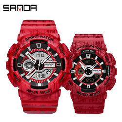 Sanda Fashion Mens Digital Watches Waterproof Outdoor Couple