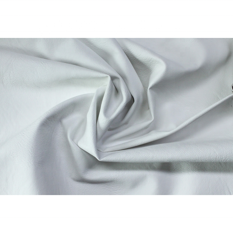 100% PU synthetic leather viscose PU leather fabric for Garment white leather