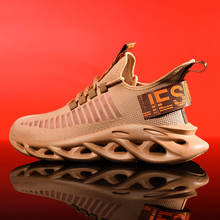 stylish Men mesh Knit Mesh Breathable sports Running Shoes 2019 Fashion Sports Shoes Sneakers Hollow Sole Plus Size 46