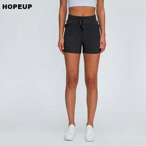 HOPEUP soft fitness yoga shorts relax womens workout shorts