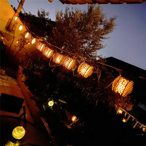 Professional Factory Outdoor Waterproof Flame Lantern Led String Wall Light Modern Decorative String Light