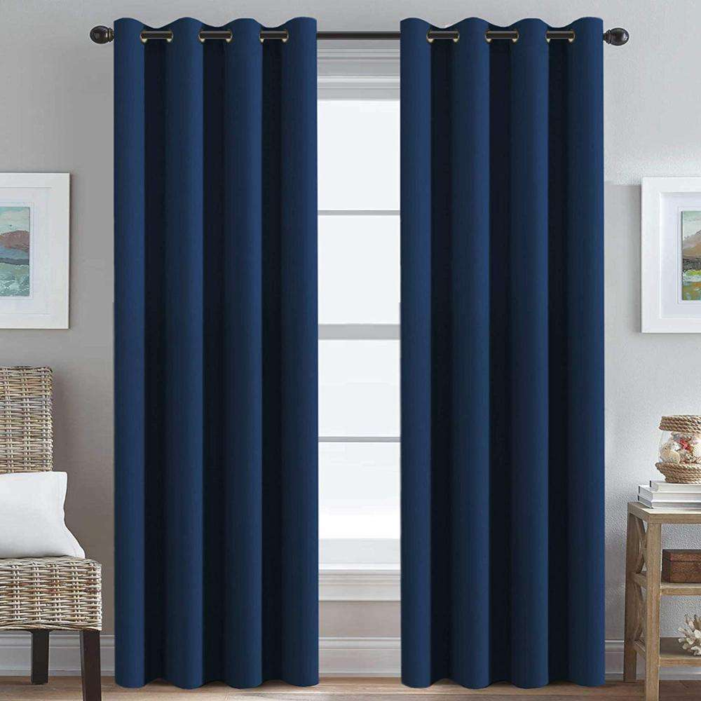 Thermal Insulated Blackout Window Curtains for Bedroom/Living Room Ultra Soft and Smooth Grommet Curtains