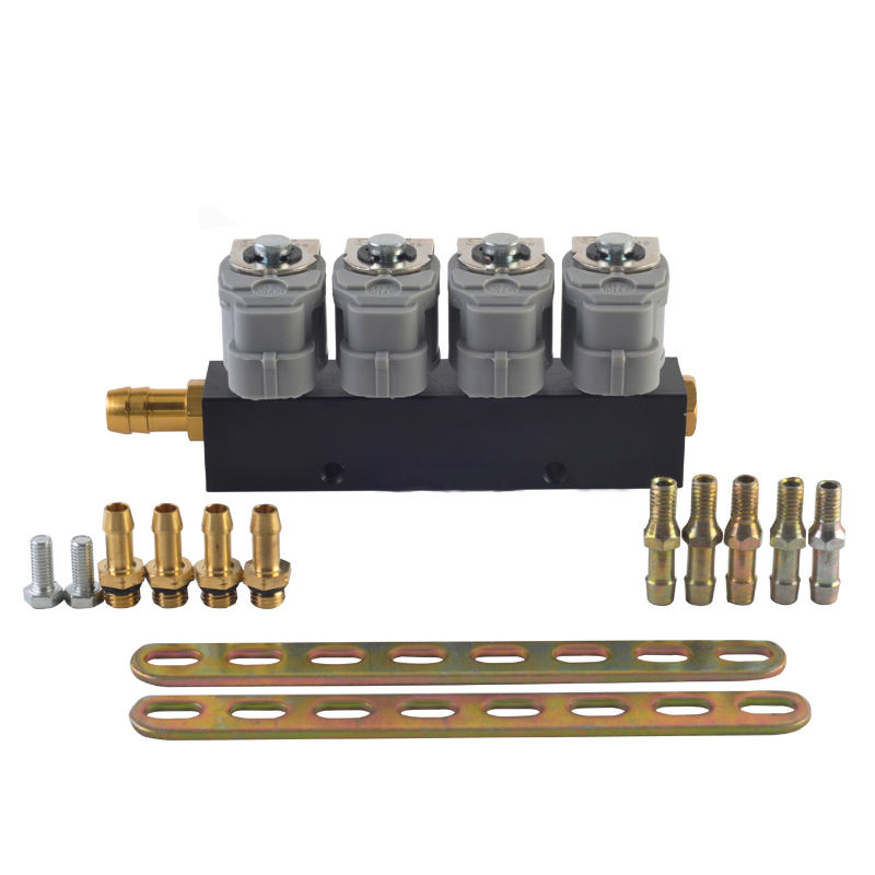LPG/CNG/NGV Gas Fuel Injector Rail lpg sequential fuel system for Sequential Injection Kit 2 or 3 ohm car injector