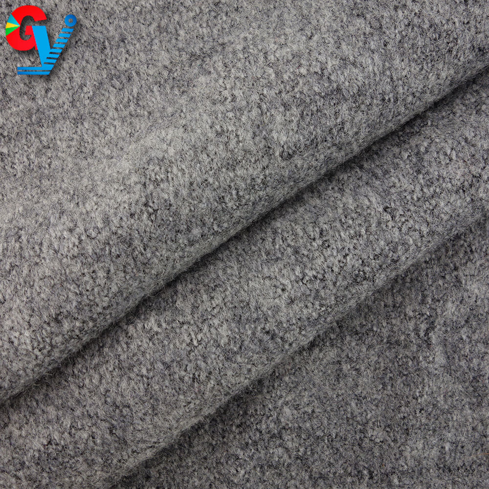 Factory direct supply recycled polyester knit wool fabric for suit grey poly/wool jersey knitted fabric