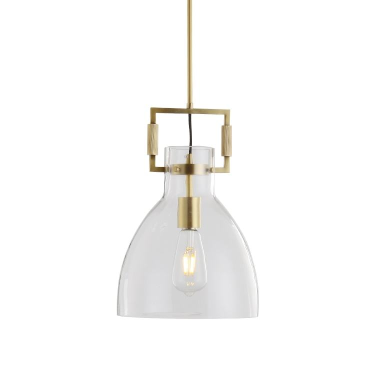 ETL US market modern residential Clear Glass Pendant light in Chandelier ceiling hanging lights for home Kitchen and hotel