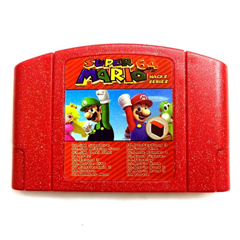 Drop Verzending Hack Versie Engels Taal Multi Game Card Rood Shell 18 In 1 N64 Super Mario Games