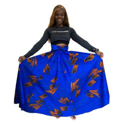 2 sided skirt bathtub,  african traditional dresses and Maxi