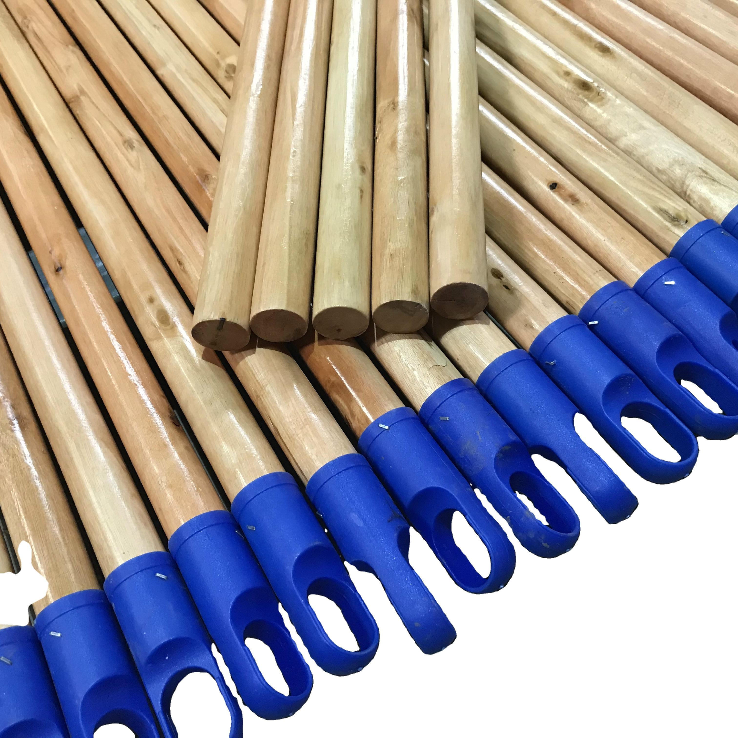 smooth 120cm/150cm length wooden broom handle stick poles with painting