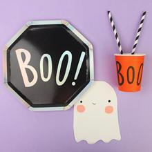 Halloween Party Paper Tableware Cute Ghost Halloween Party Supplies