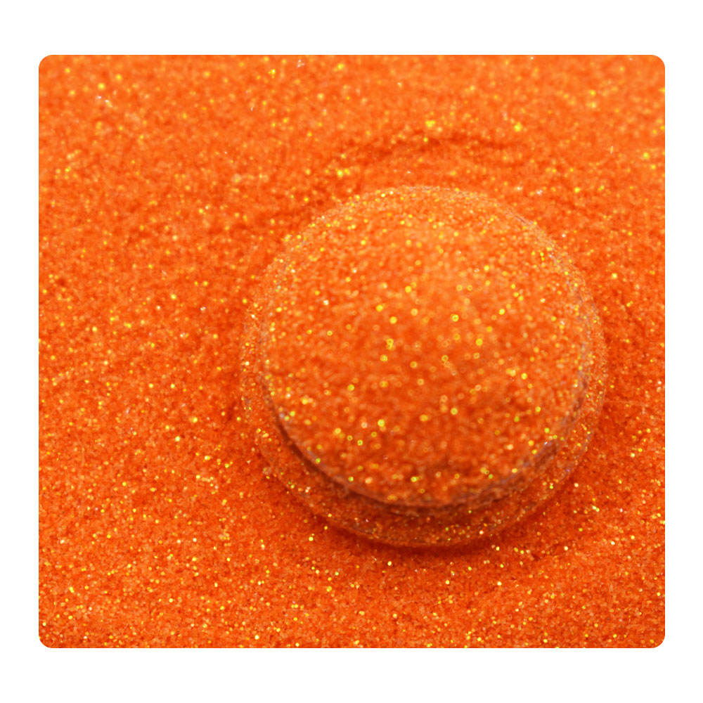Direct manufacture supply polyester glitter rainbow orange extra fine glitter for tumbler
