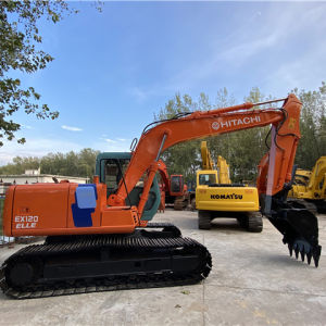 Used construction machines HITACHI middle size excavator ex120 digging machine