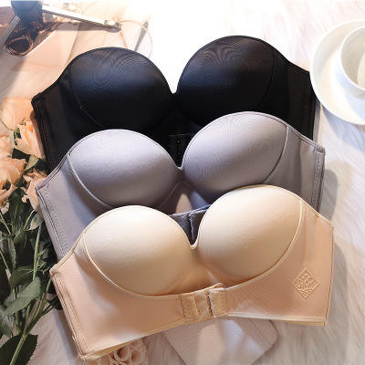 Backless Strapless Bras Plus Size Push Up Bh Voor Wedding Party Half Cup Naadloze Beha