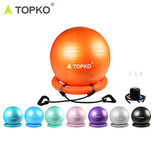 TOPKO patent anti-burst pilates exercise gym ball yoga ball with base