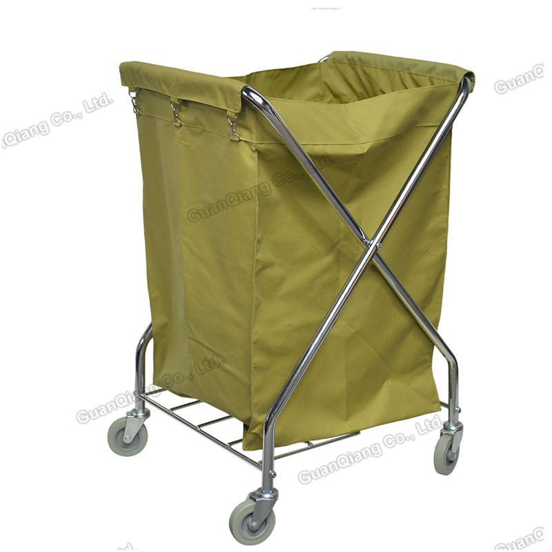 Eco-friendly Housekeeping Multifunction Plastic Platform Trolley Cleaning Cart