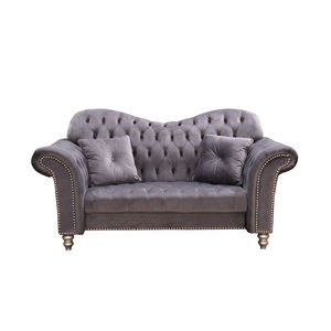 Wholesale furniture with high quality chesterfield grey velvet sofa living room sofas