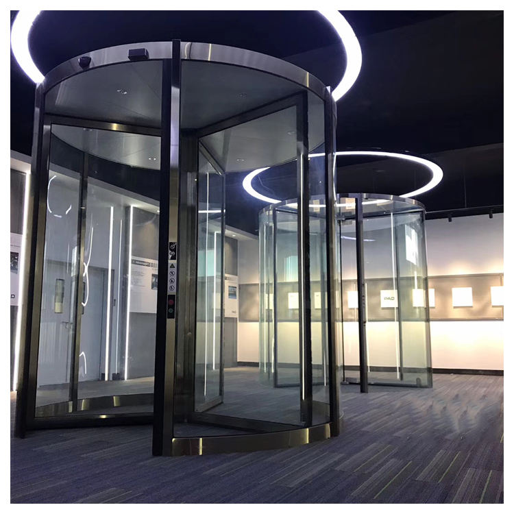 2020 hot selling security antipanic revolving door glass revolving door for commercial building