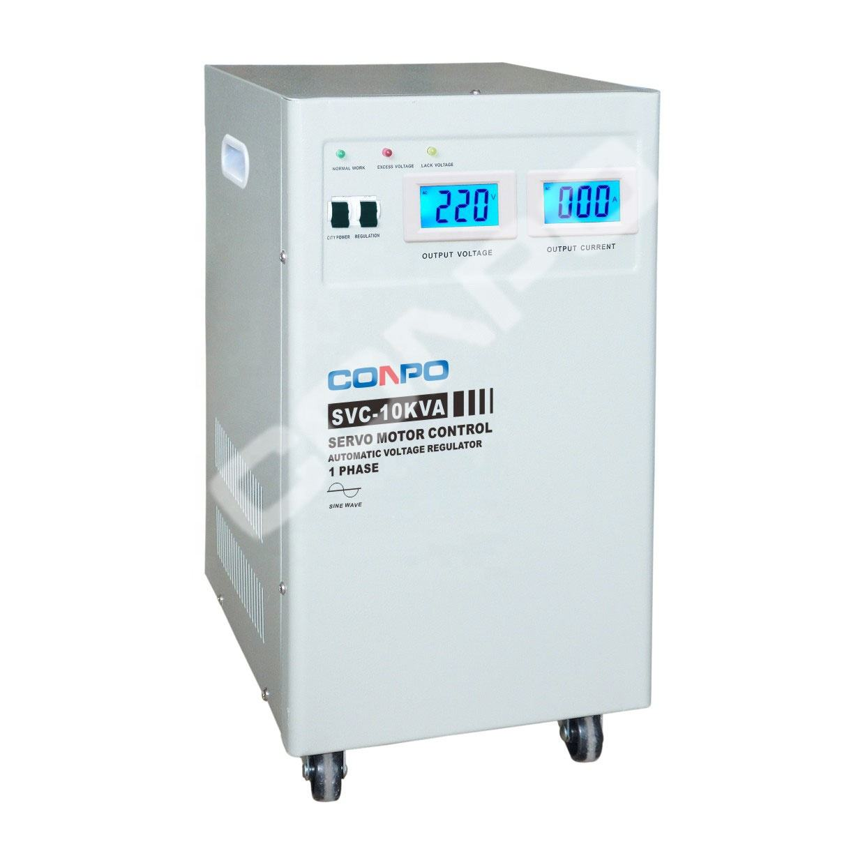 SVC-7500VA/10KVA (Vertikal) single Phase Servo Motor Tipe Automatic Voltage Stabilizer Regulator AVR 220VAC LCD Tampilan Digital